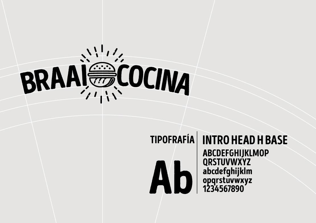 Braai cocina construcción de marca(branding) para negocio de comid