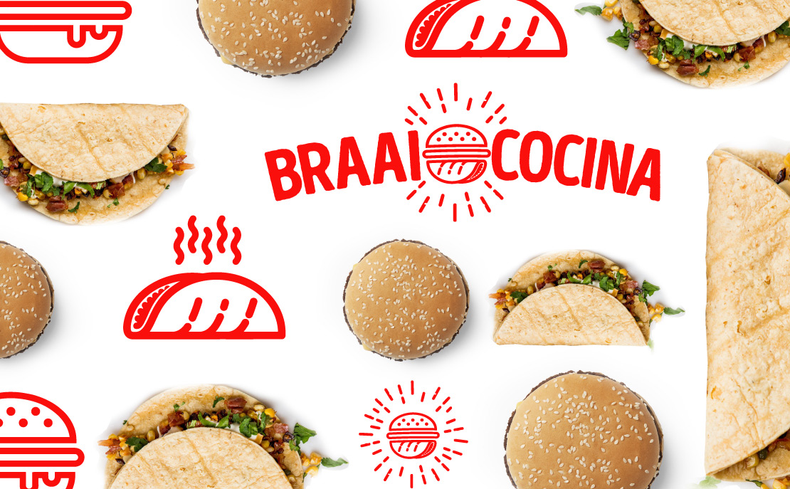 Braai cocina construcción de marca(branding) para negocio de cocina