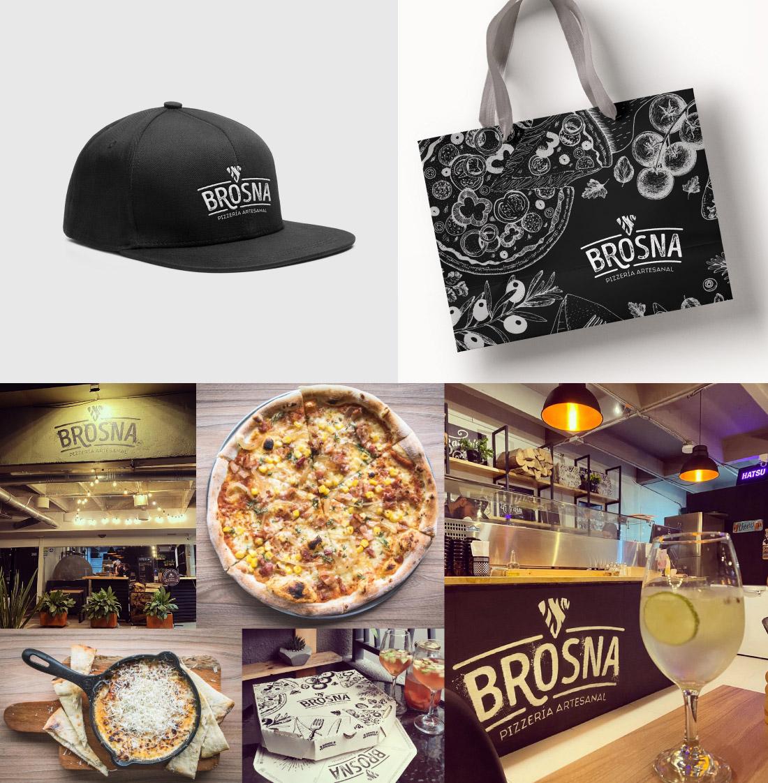 Brosna Pizería artesanal construcción de marca (branding) para negocio de pizza